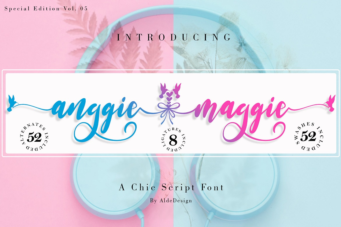 The 15 in 1 Wonderful Font Bundle - COVER Anggie Maggie -