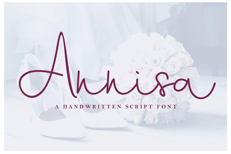 The 15 in 1 Wonderful Font Bundle - COVER Annisa Script -