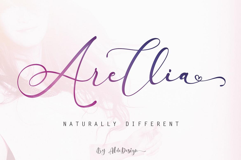 The 15 in 1 Wonderful Font Bundle - COVER Arellia Script -