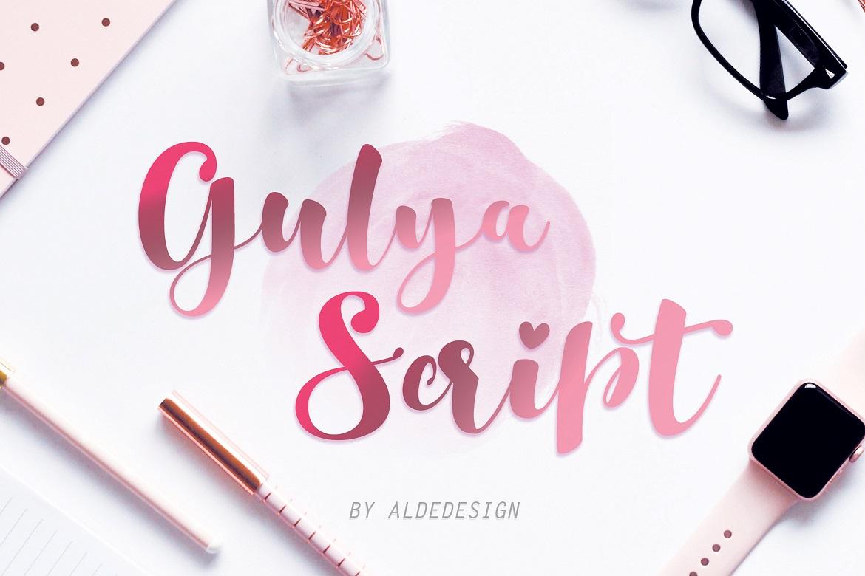 The 15 in 1 Wonderful Font Bundle - COVER Gulya Script -