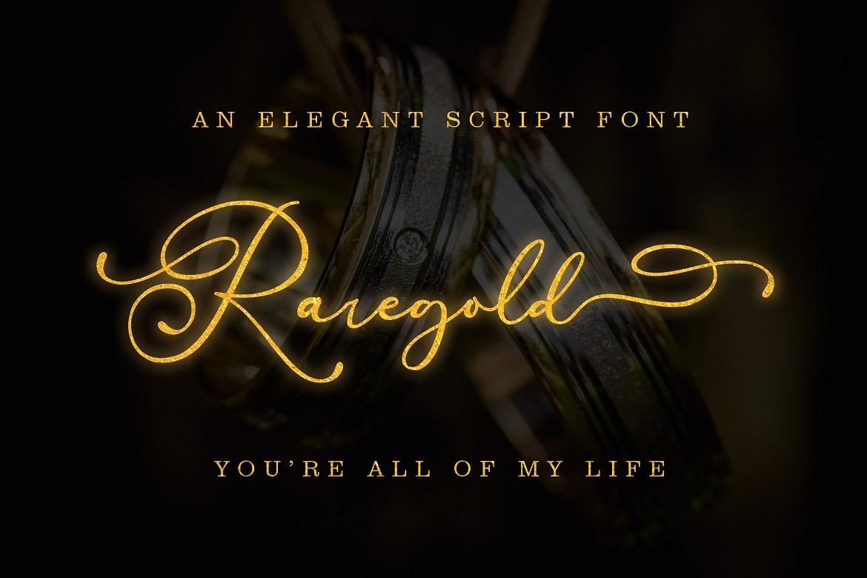 The 15 in 1 Wonderful Font Bundle - COVER Raregold Script -