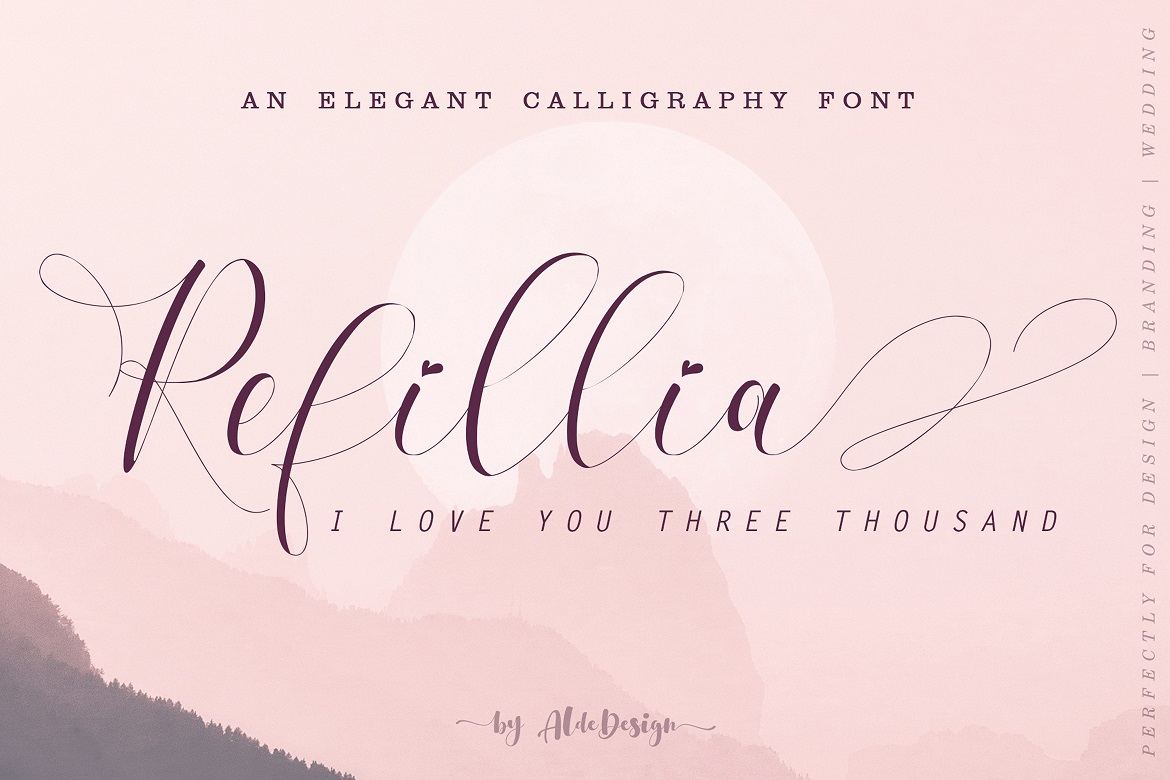 The 15 in 1 Wonderful Font Bundle - COVER Refillia Calligraphy -