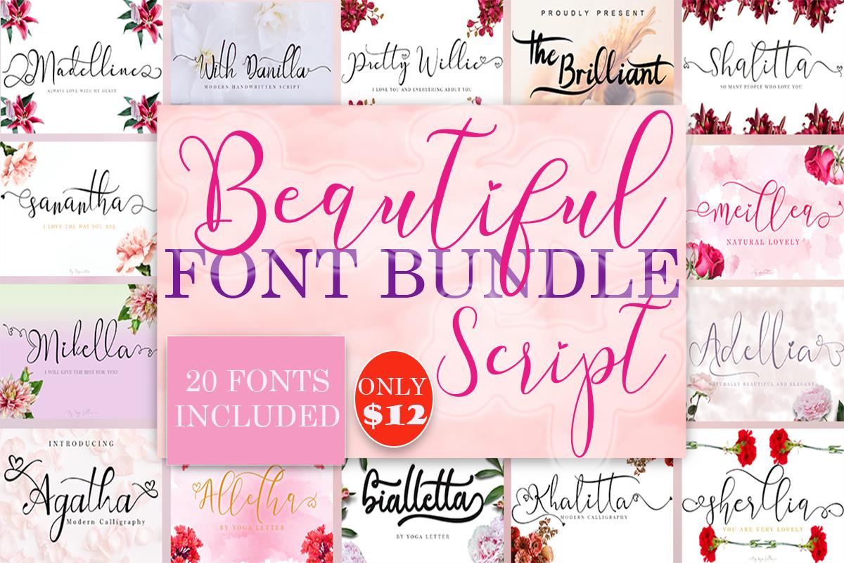 Beautiful Script Font Bundle - Font Bundle Crella 1200x800 1 -
