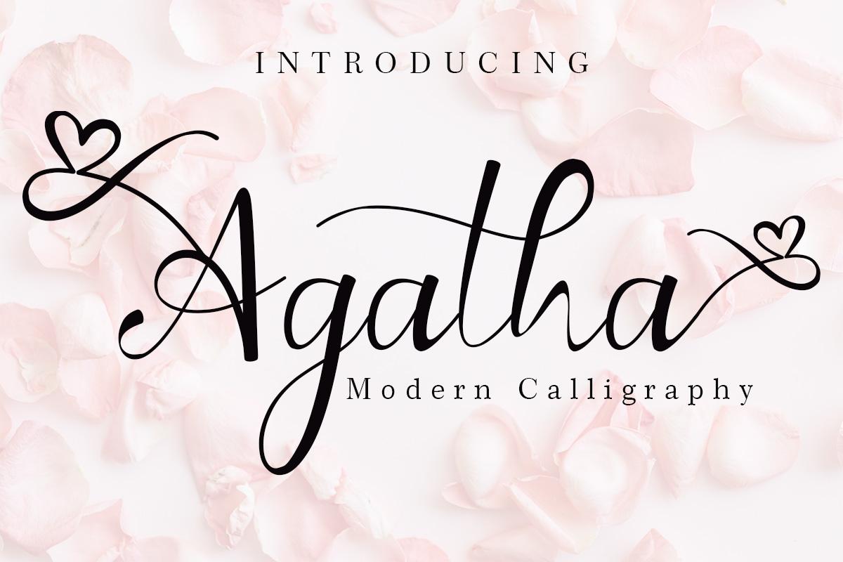 Beautiful Script Font Bundle - Cover Agatha -