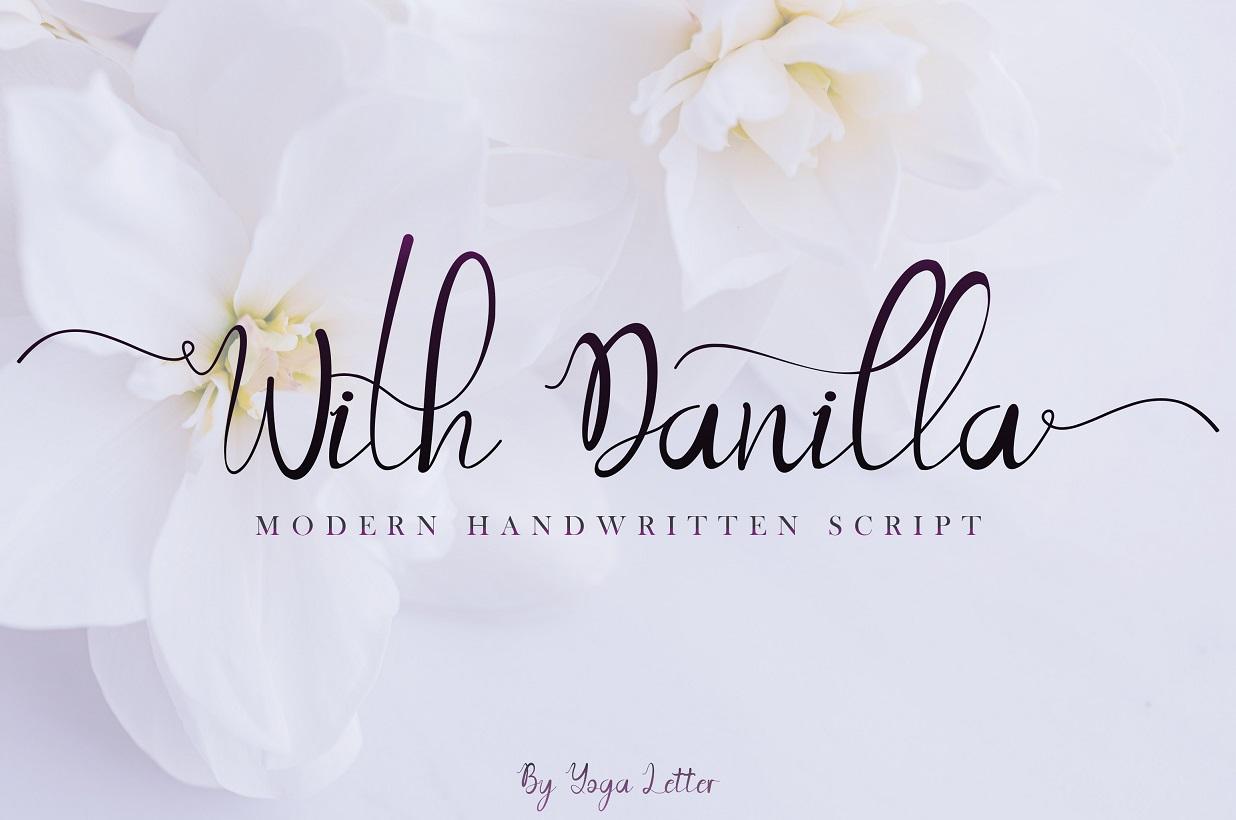 Beautiful Script Font Bundle - With Danilla -