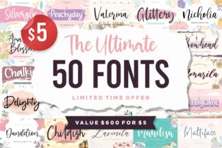 """<span style=""""display: none"""">Font Bundles</span> - 50 5 -"""