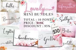 Crella Subscription | Discount A279SAYP - Lovely Script Mini Bundles -
