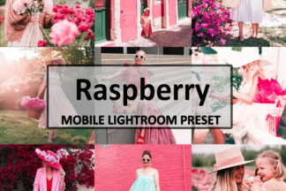 Spring Lightroom Presets - Raspberry Preset -