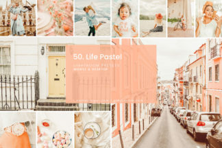 Minimalistic Lightroom Presets - 50. LIFE PASTEL 01 -