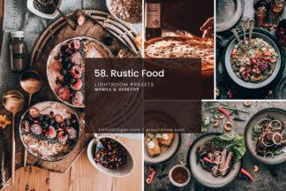 Lifestyle Lightroom Presets - 58.RUSTIC FOOD 01 -