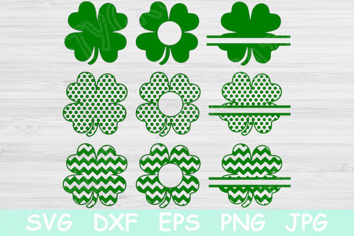 dxf St Patrick/'s Day SVG four leaf clover svg shamrocks with faces cute shamrock svg Shamrock SVG lucky clover svg eps png clipart