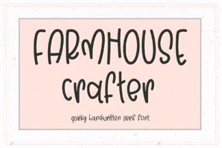 Crella Subscription - 1 Farmhouse Crafter Font -