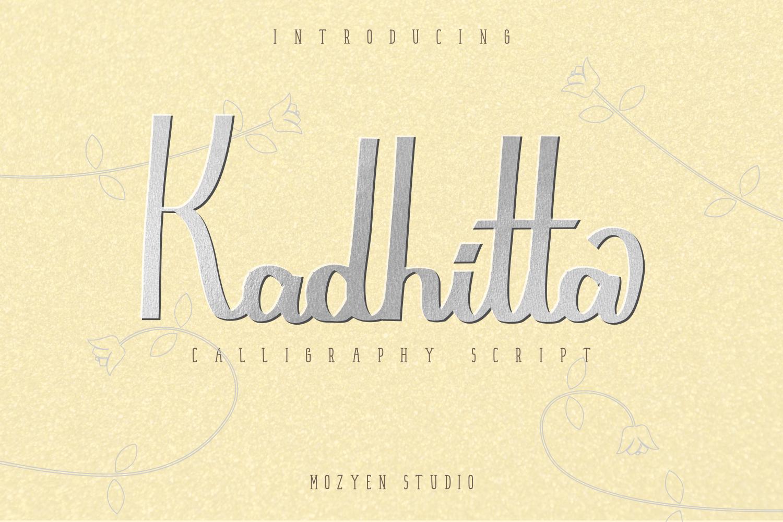 Kadhitta - Kadhitta Preview 01 -
