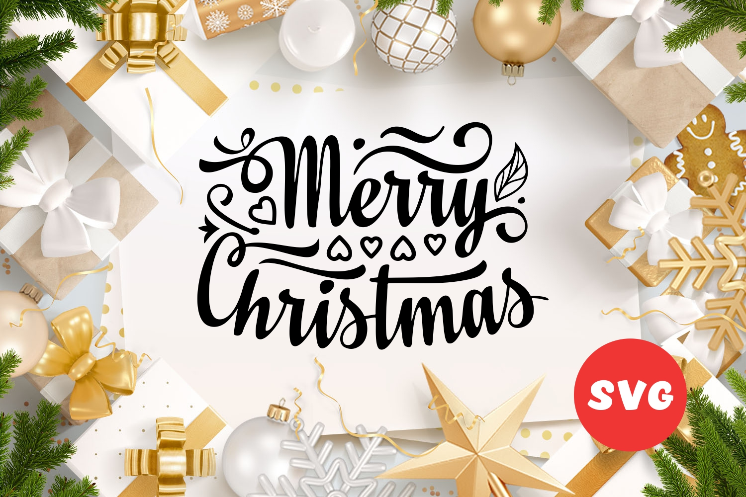 Christmas lettering svg - A 3 -