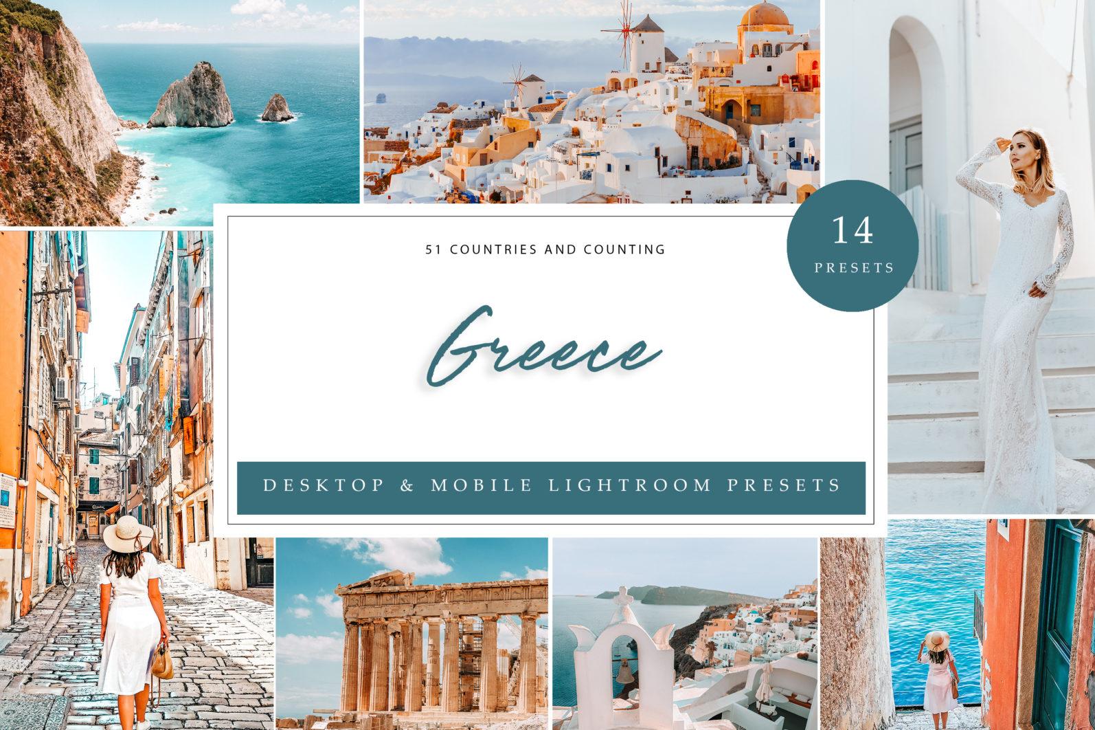 14 x Greece Lightroom Presets   Mobile and Desktop - Greece LR scaled -