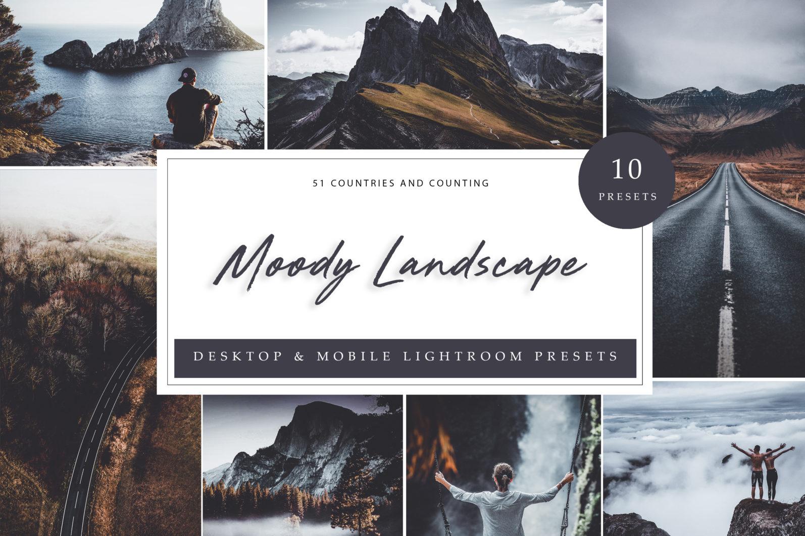 10 x Moody Landscape Lightroom Presets, Travel Presets | Mobile and Desktop - Moody Landscape LR scaled -