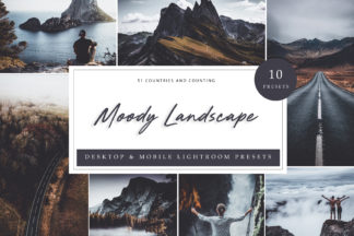 Lifestyle Lightroom Presets - Moody Landscape LR -