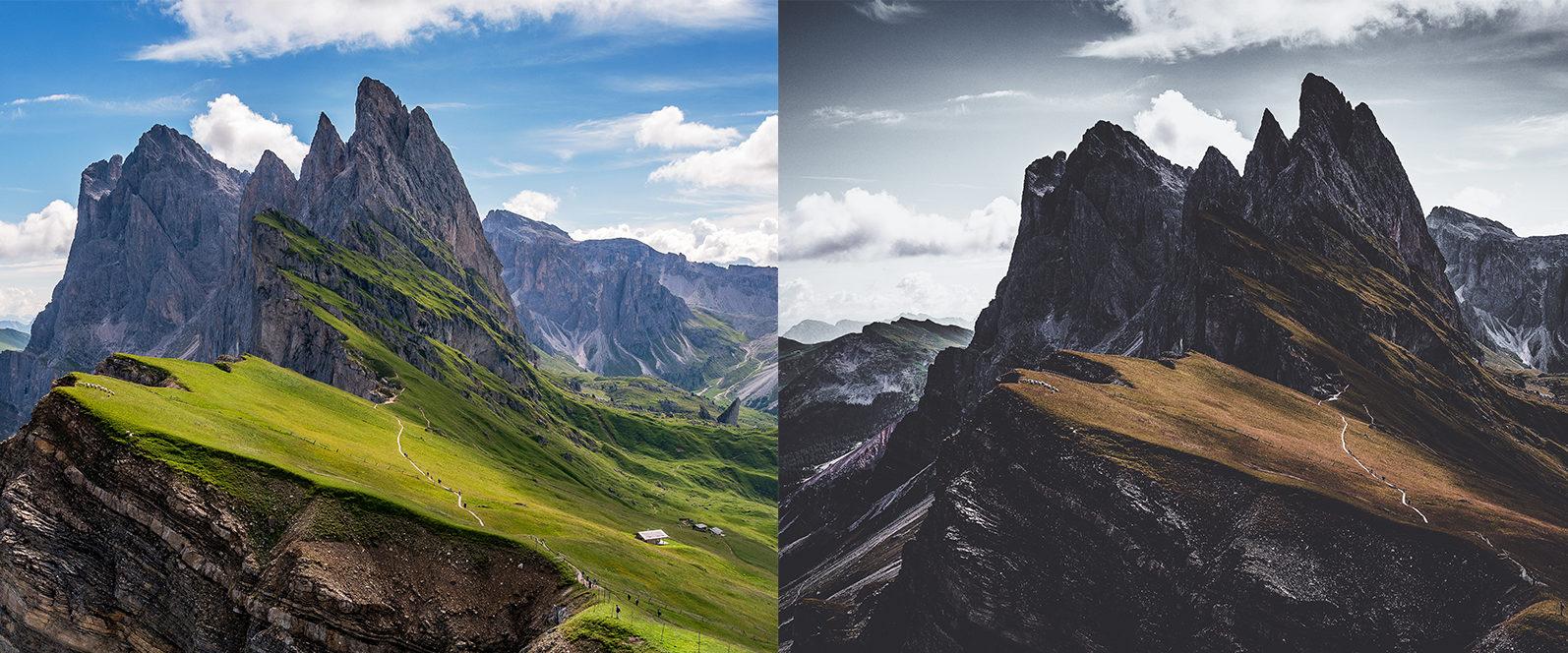 10 x Moody Landscape Lightroom Presets, Travel Presets | Mobile and Desktop - 3 Moody Landscapes 1 -