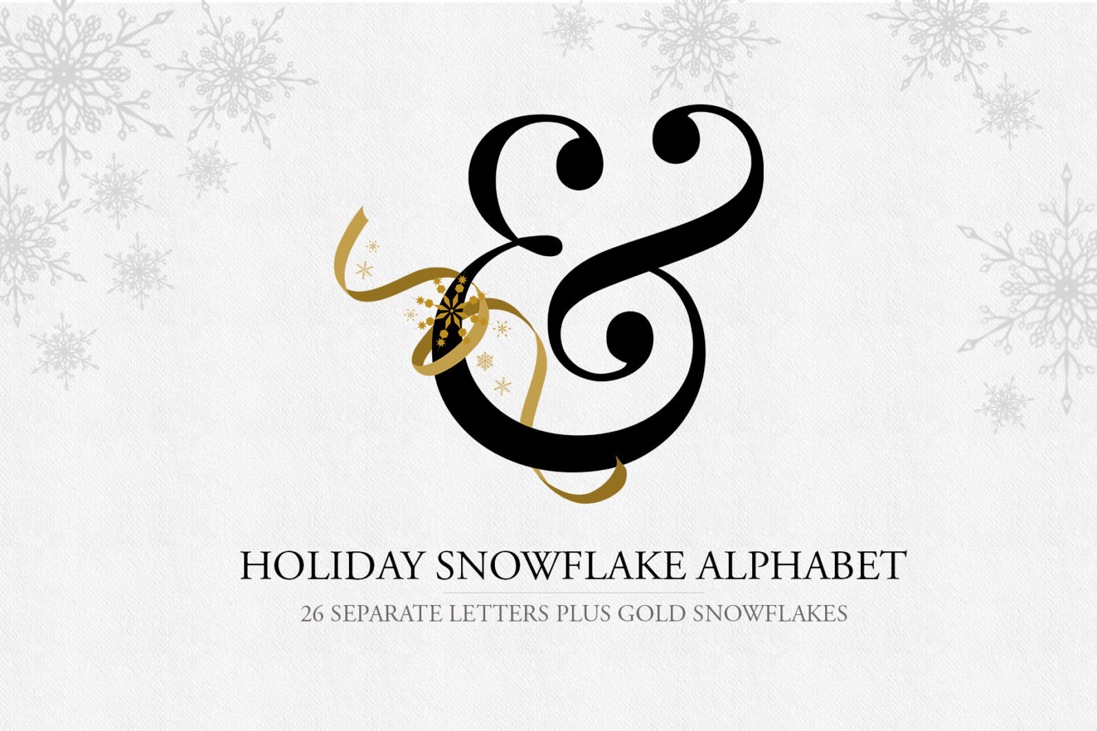 Snowflake Alphabet Letters - snowflake alphabet title -
