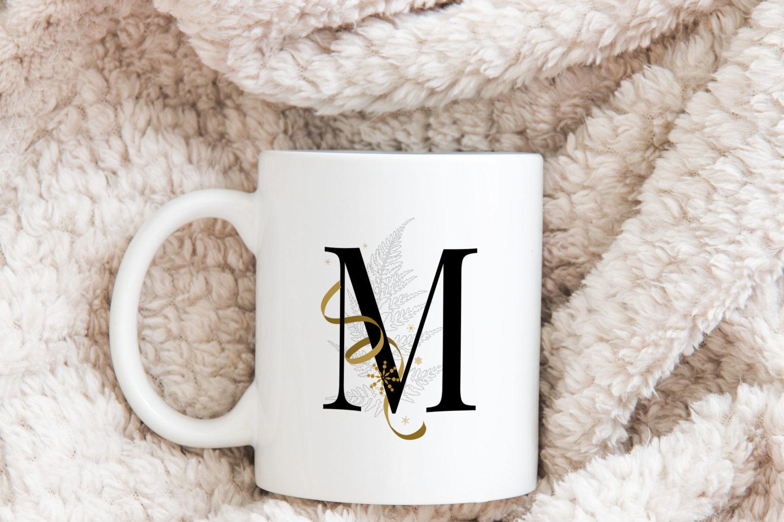 Snowflake Alphabet Letters - holiday snowflakes alphabet mug scaled -