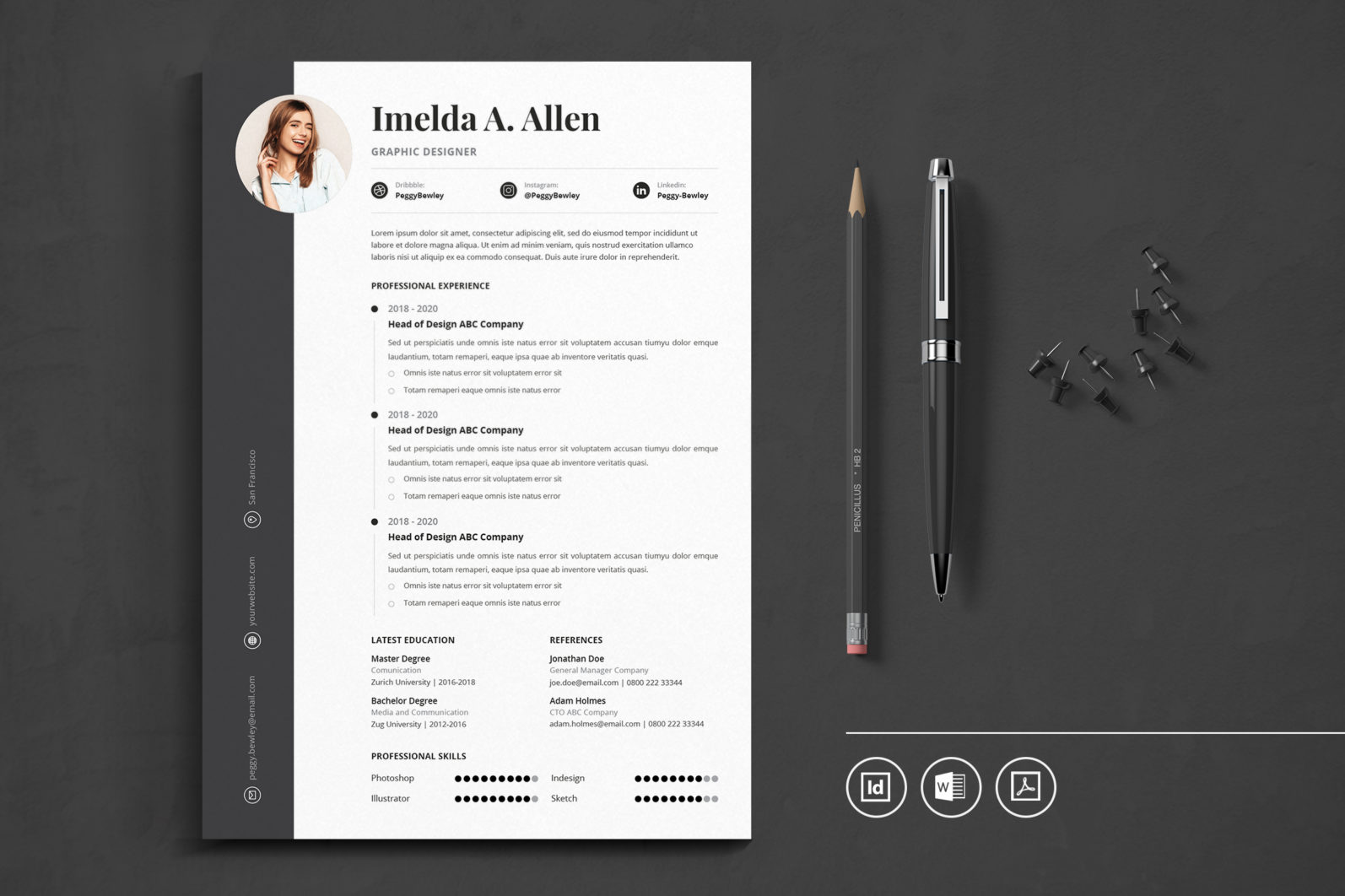 Big Bundle Professional CV Resume Indesign Template - Preview 25 1 -