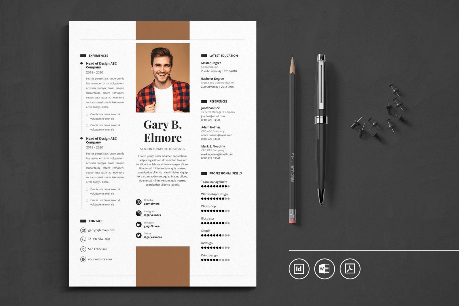 Big Bundle Professional CV Resume Indesign Template - Preview 27 1 -