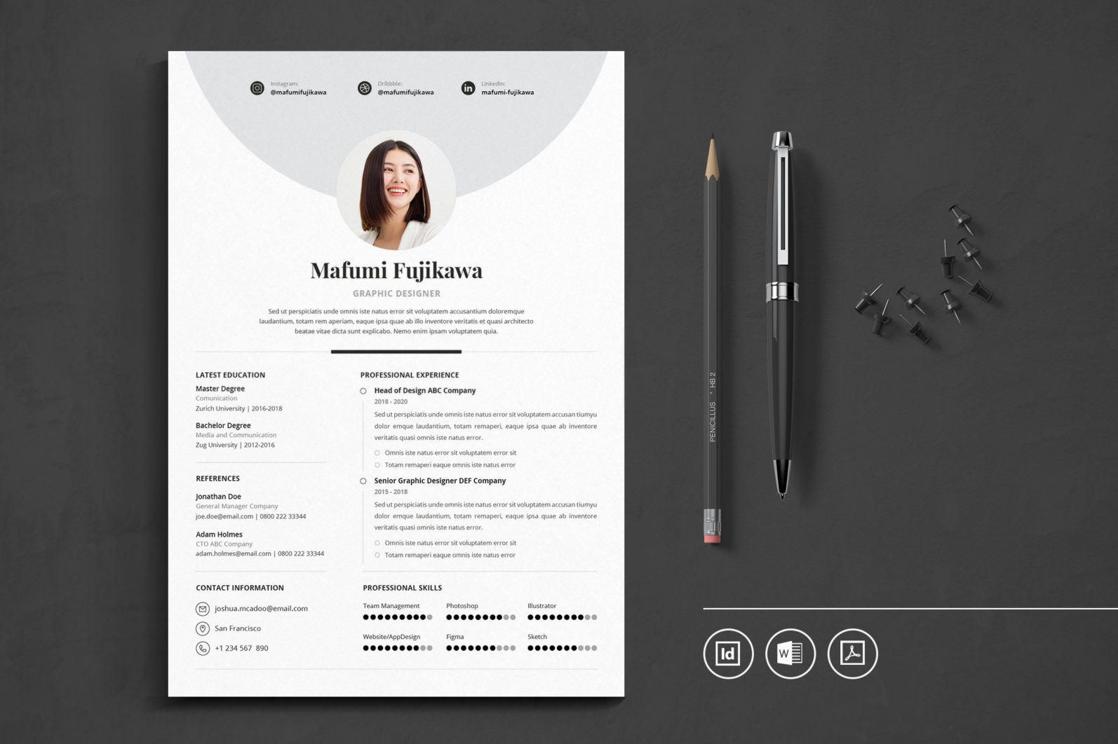 Big Bundle Professional CV Resume Indesign Template - Preview 29 1 -