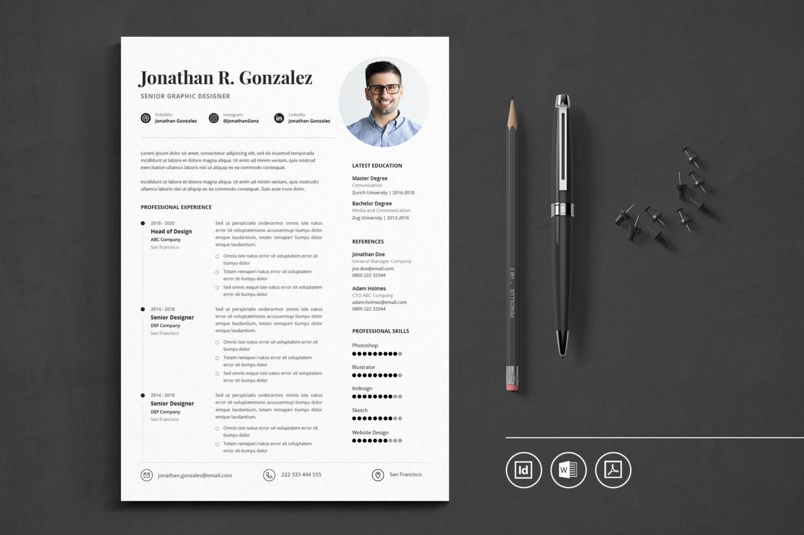 Big Bundle Professional CV Resume Indesign Template - Preview 33 1 -
