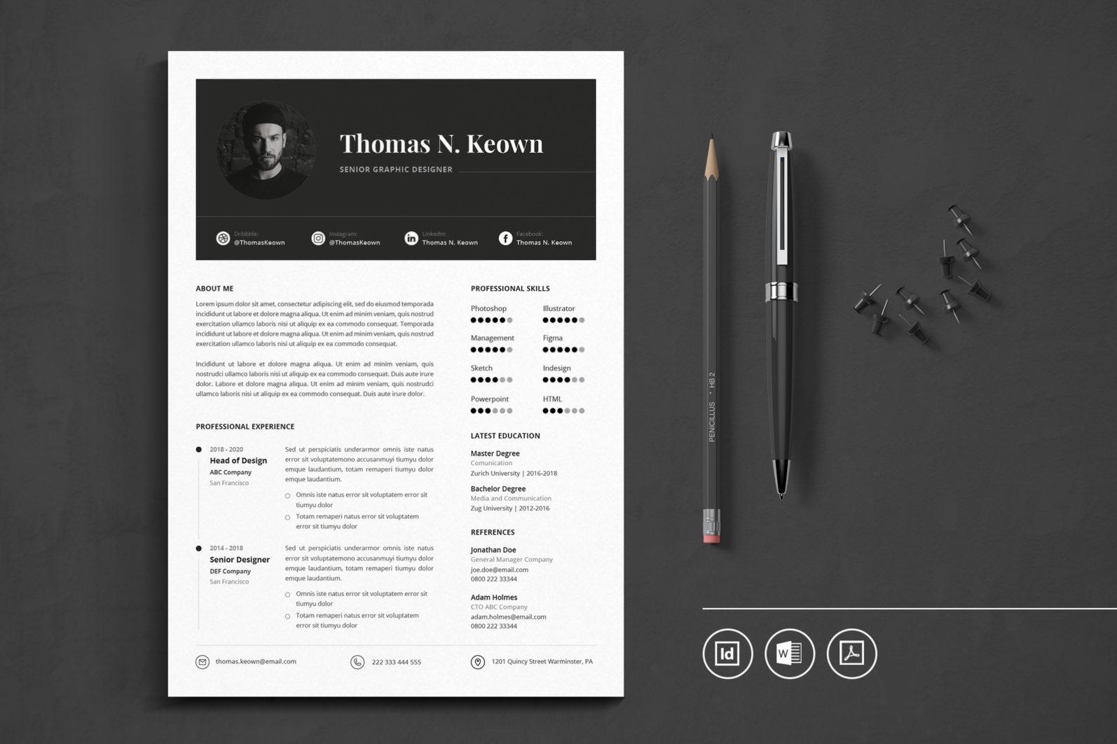 Big Bundle Professional CV Resume Indesign Template - Preview 35 -