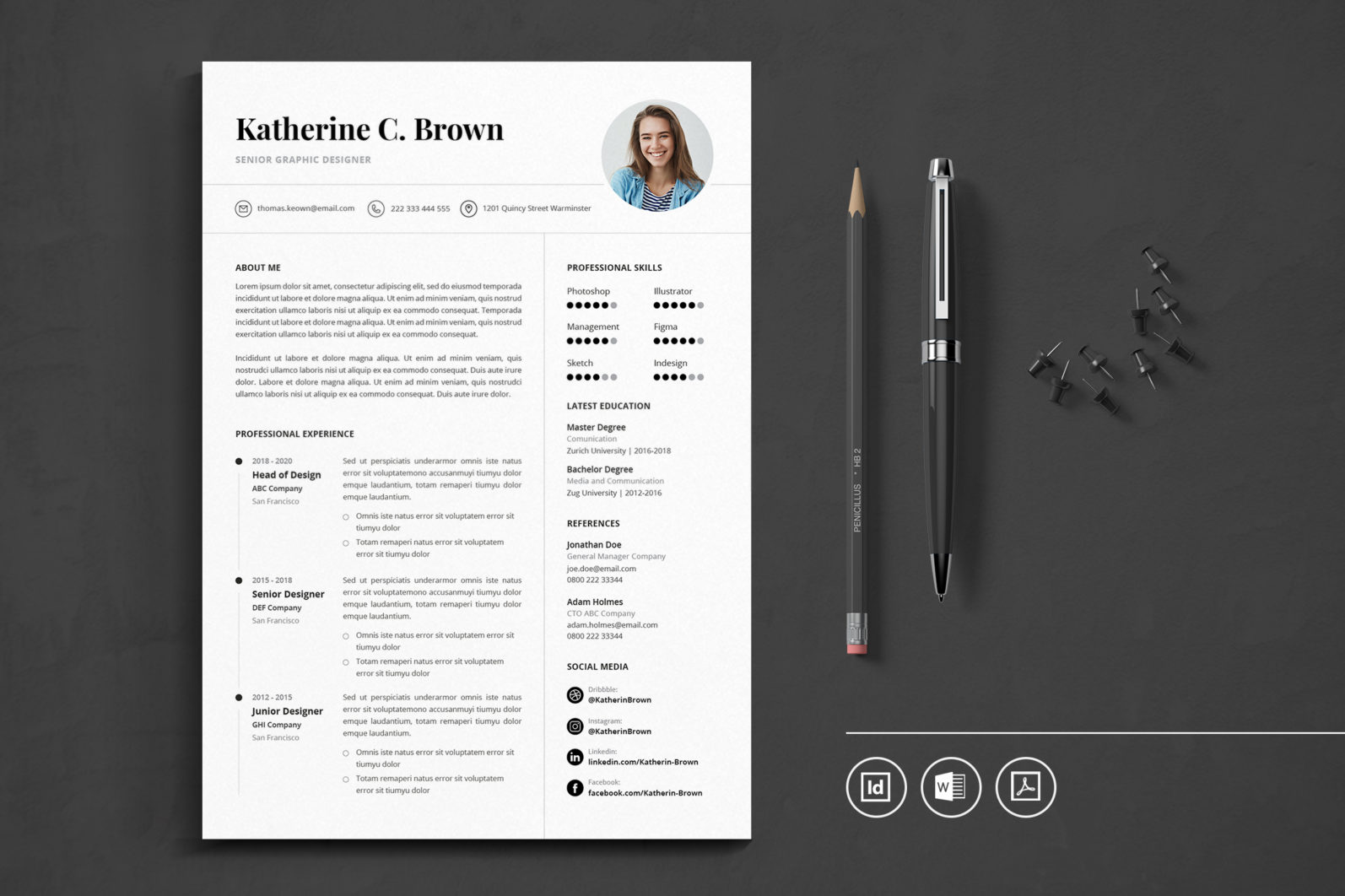 Big Bundle Professional CV Resume Indesign Template - Preview 36 -