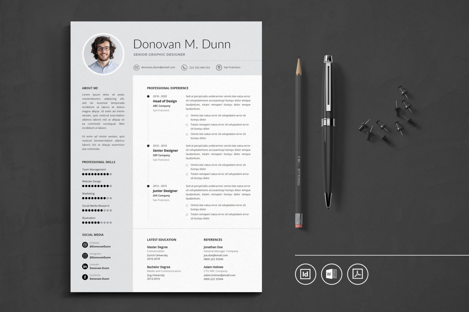 Big Bundle Professional CV Resume Indesign Template - Preview 37 -
