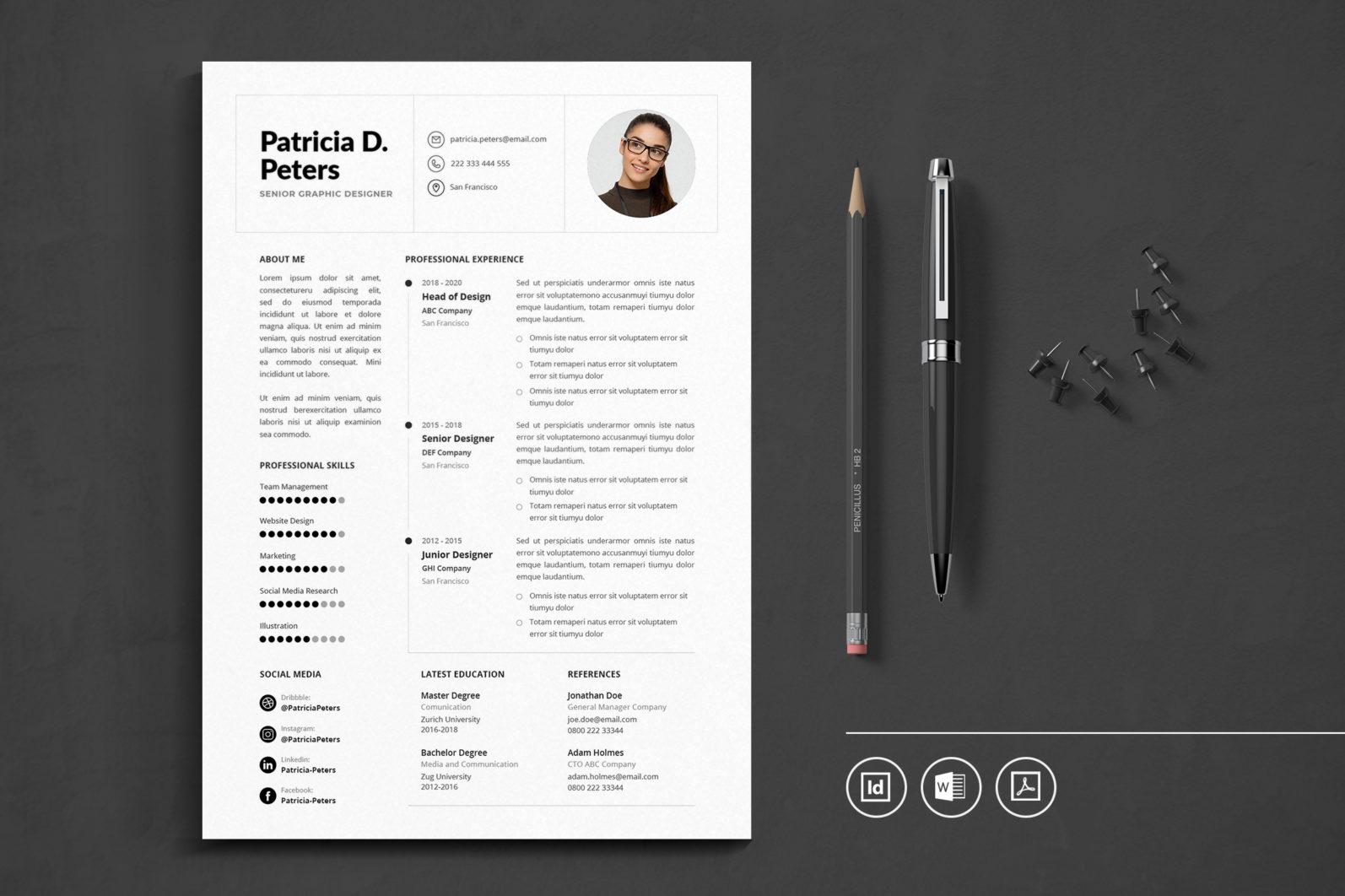 Big Bundle Professional CV Resume Indesign Template - Preview 38 -
