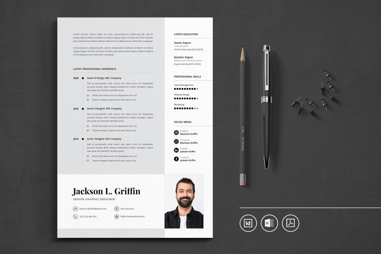 Big Bundle Professional CV Resume Indesign Template - Preview 41 -