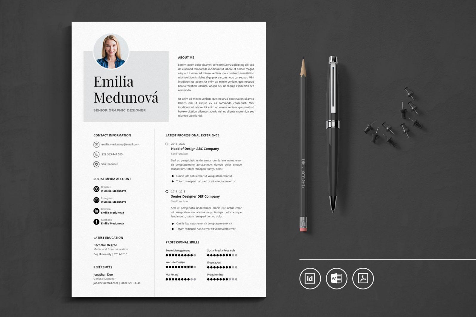 Big Bundle Professional CV Resume Indesign Template - Preview 44 -
