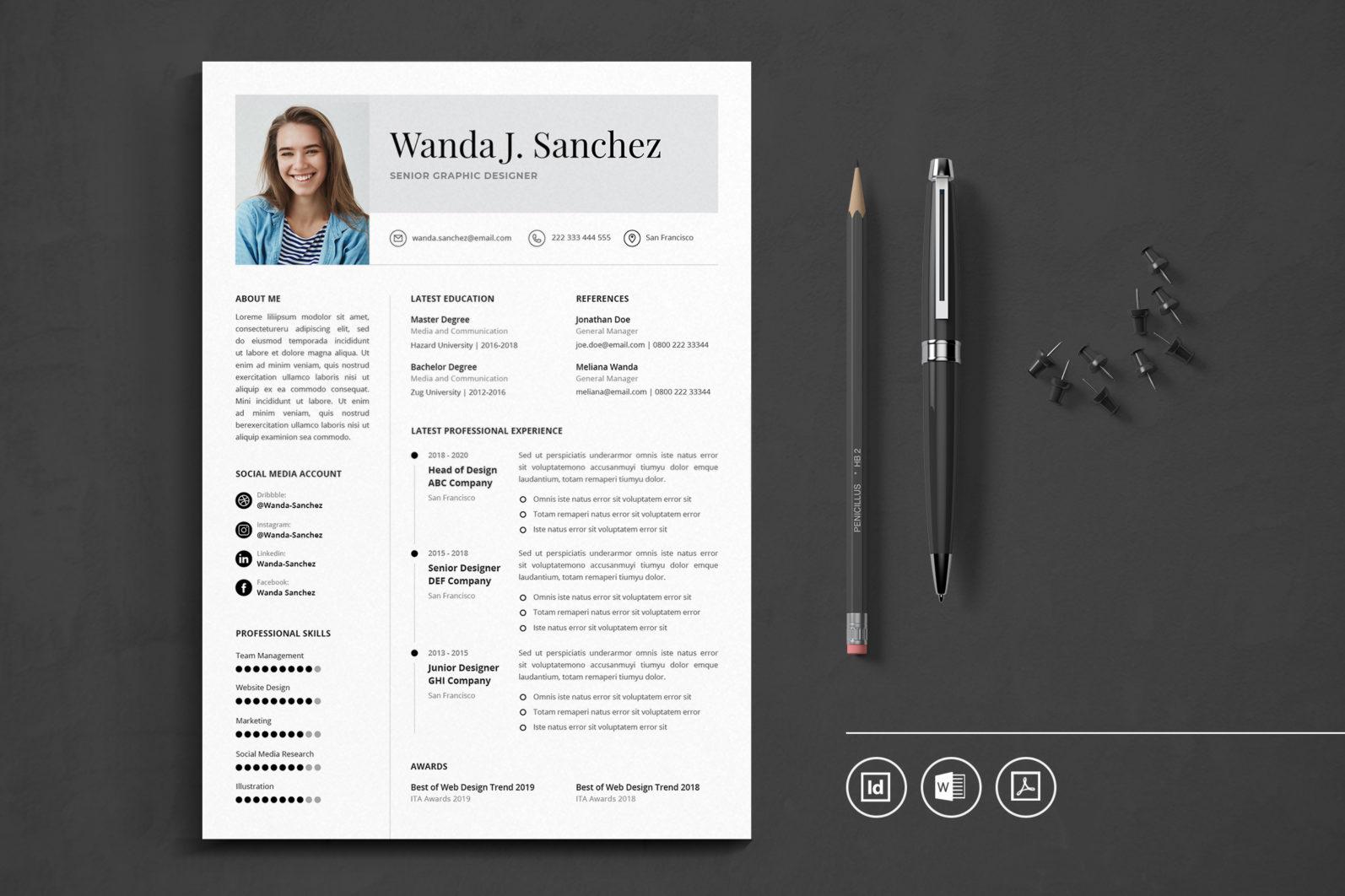 Big Bundle Professional CV Resume Indesign Template - Preview 45 -