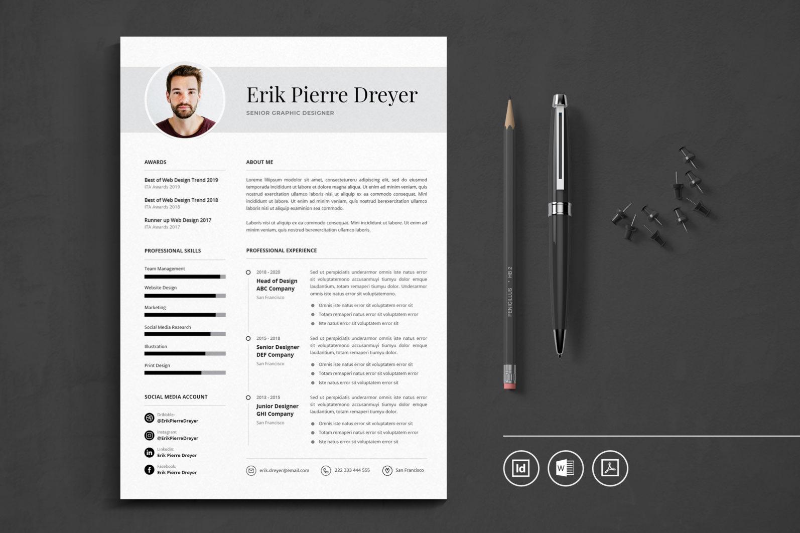 Big Bundle Professional CV Resume Indesign Template - Preview 46 -