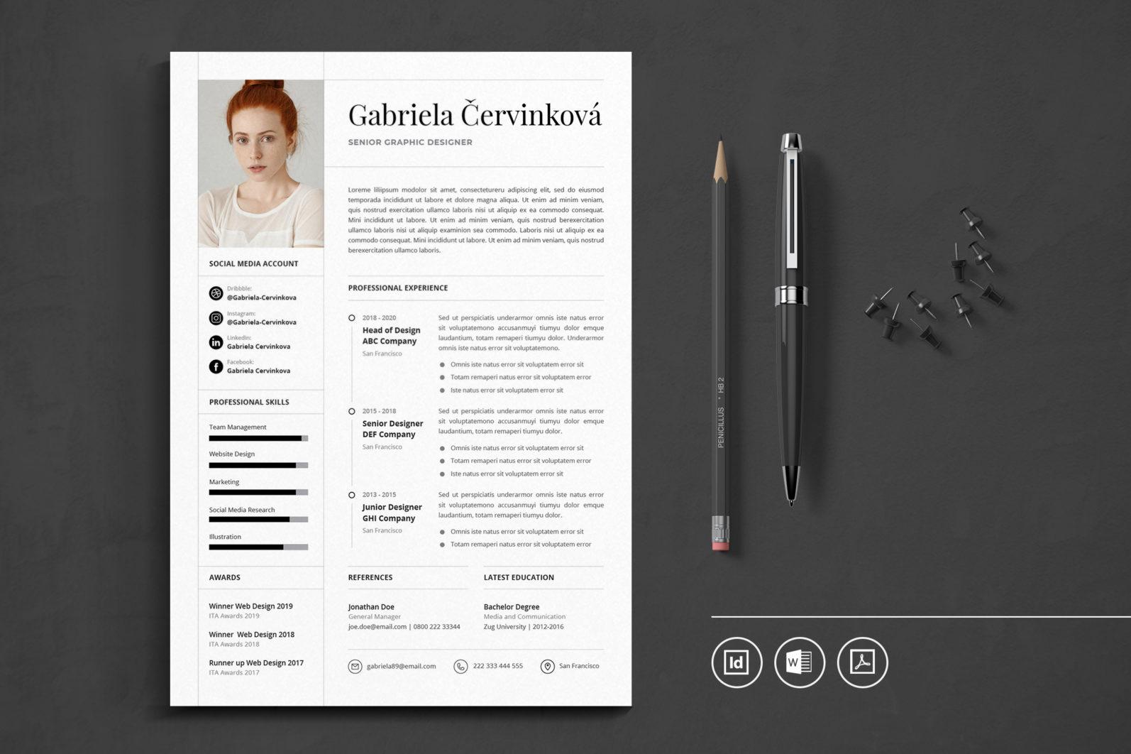Big Bundle Professional CV Resume Indesign Template - Preview 47 -