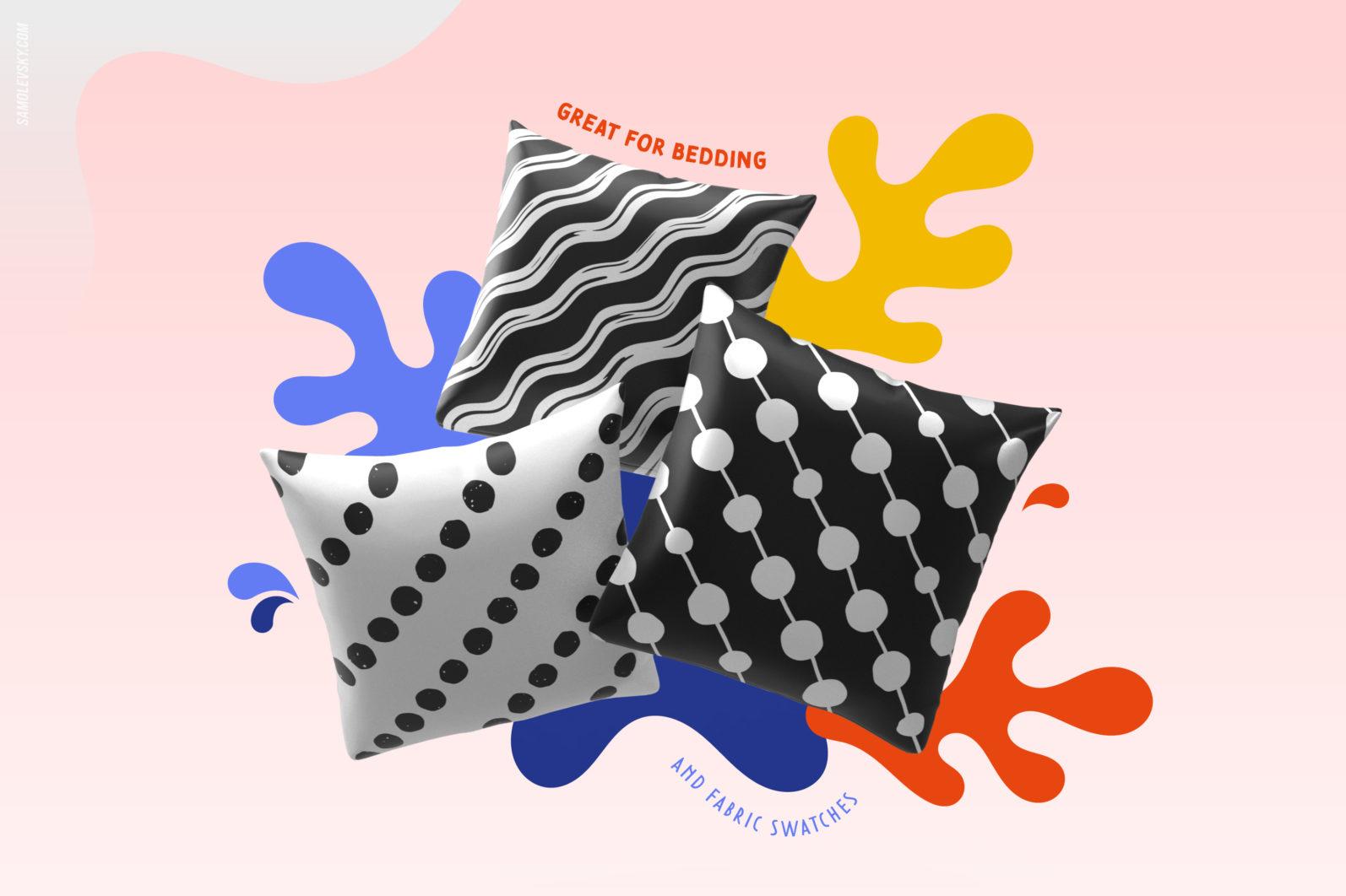Handmade patterns bundle - 300 seamless patterns, brushes, and shapes - Samolevsky.com Handmade patterns bundle 04 scaled -