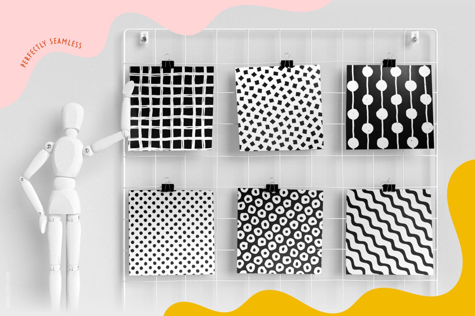 Handmade patterns bundle - 300 seamless patterns, brushes, and shapes - Samolevsky.com Handmade patterns bundle 06 scaled -