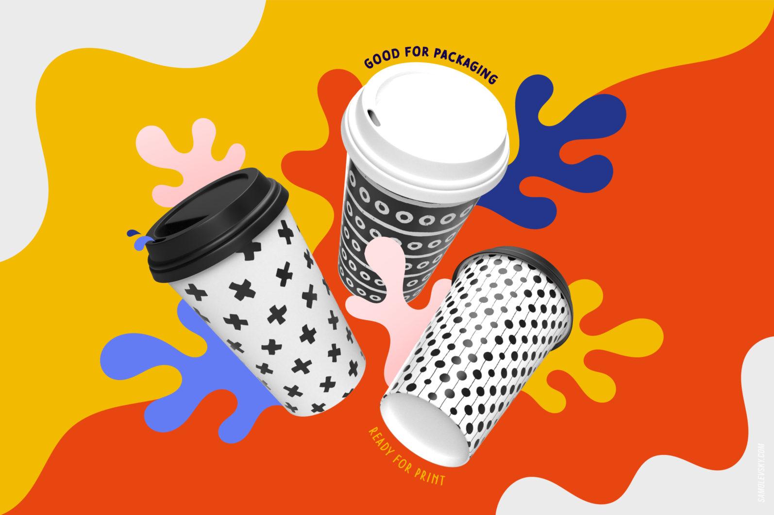 Handmade patterns bundle - 300 seamless patterns, brushes, and shapes - Samolevsky.com Handmade patterns bundle 07 scaled -