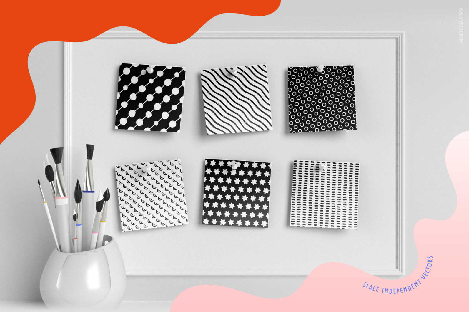 Handmade patterns bundle - 300 seamless patterns, brushes, and shapes - Samolevsky.com Handmade patterns bundle 18 scaled -