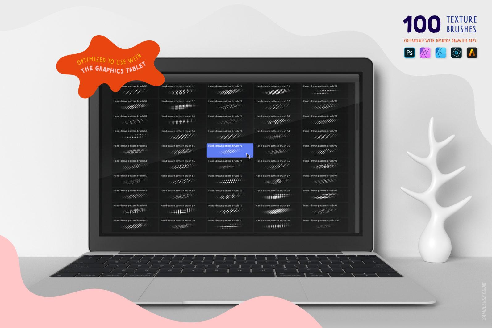 Handmade patterns bundle - 300 seamless patterns, brushes, and shapes - Samolevsky.com Handmade patterns bundle 22 scaled -