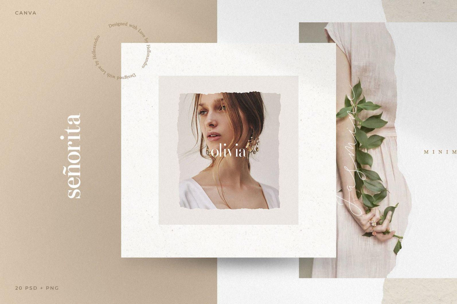 Señorita - Instagram Stories & Post - noir -