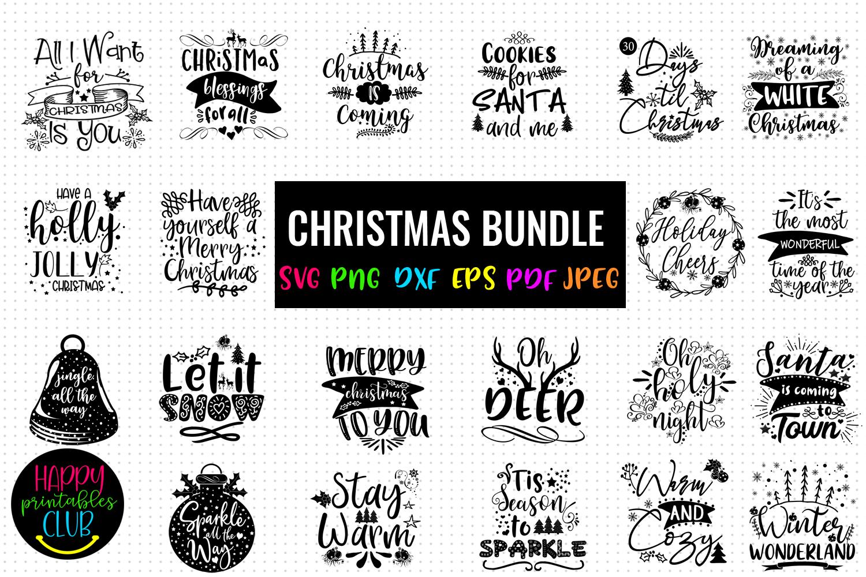 Christmas SVG Bundle- Holiday SVG Bundle- Set of 22 Files - BUNDLE COVER -