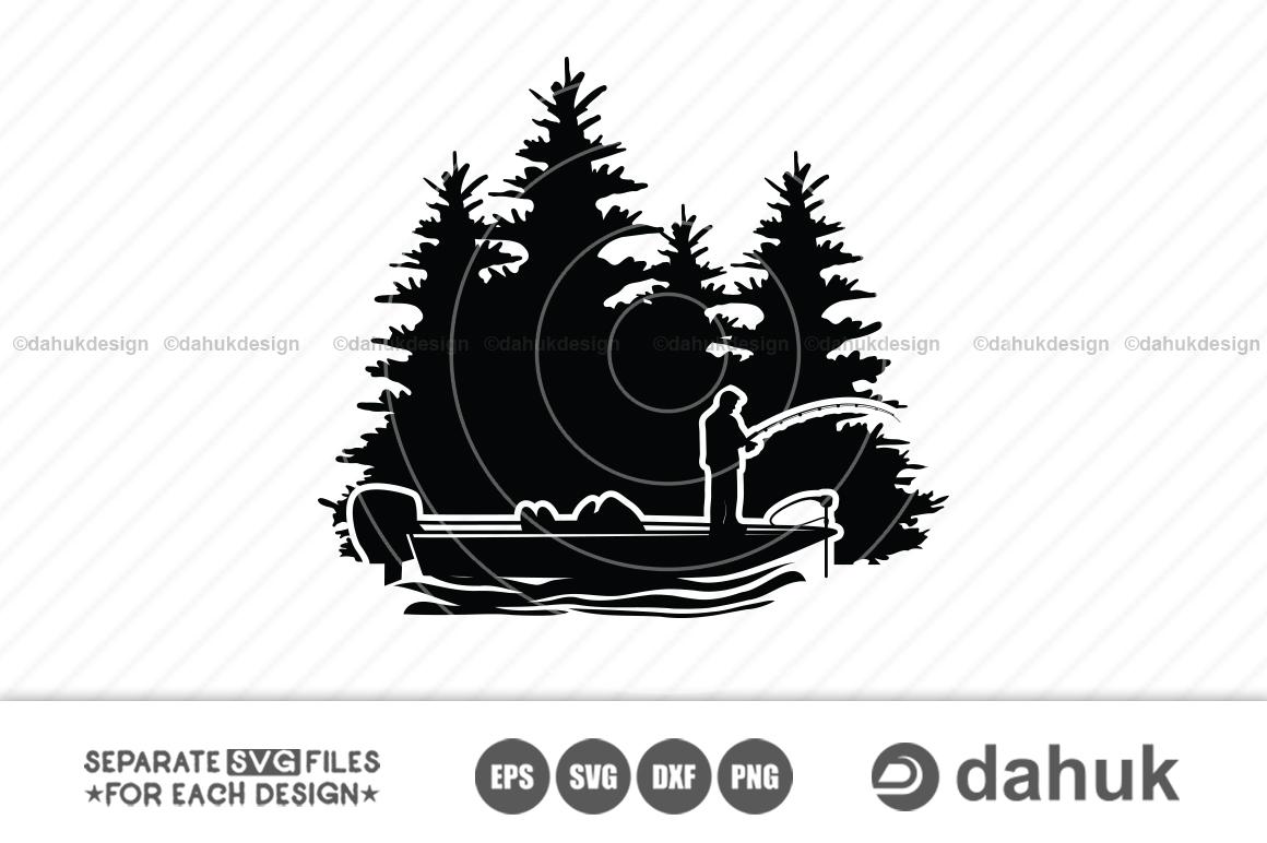 Download Bass Fishing Scene Svg File Bass Boat Bass Boat Svg Cut File For Silhouette Clipart Crella