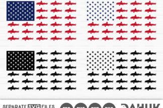 Download Fishing Usa Flag Svg Catfish Flag Svg American Flag Fish Svg Silhouette Clipart Cuttable Design Crella