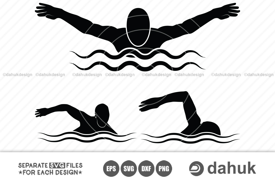 Swimmer svg, Swimming svg, Swimming svg cut file for silhouette - Swimmer svg -