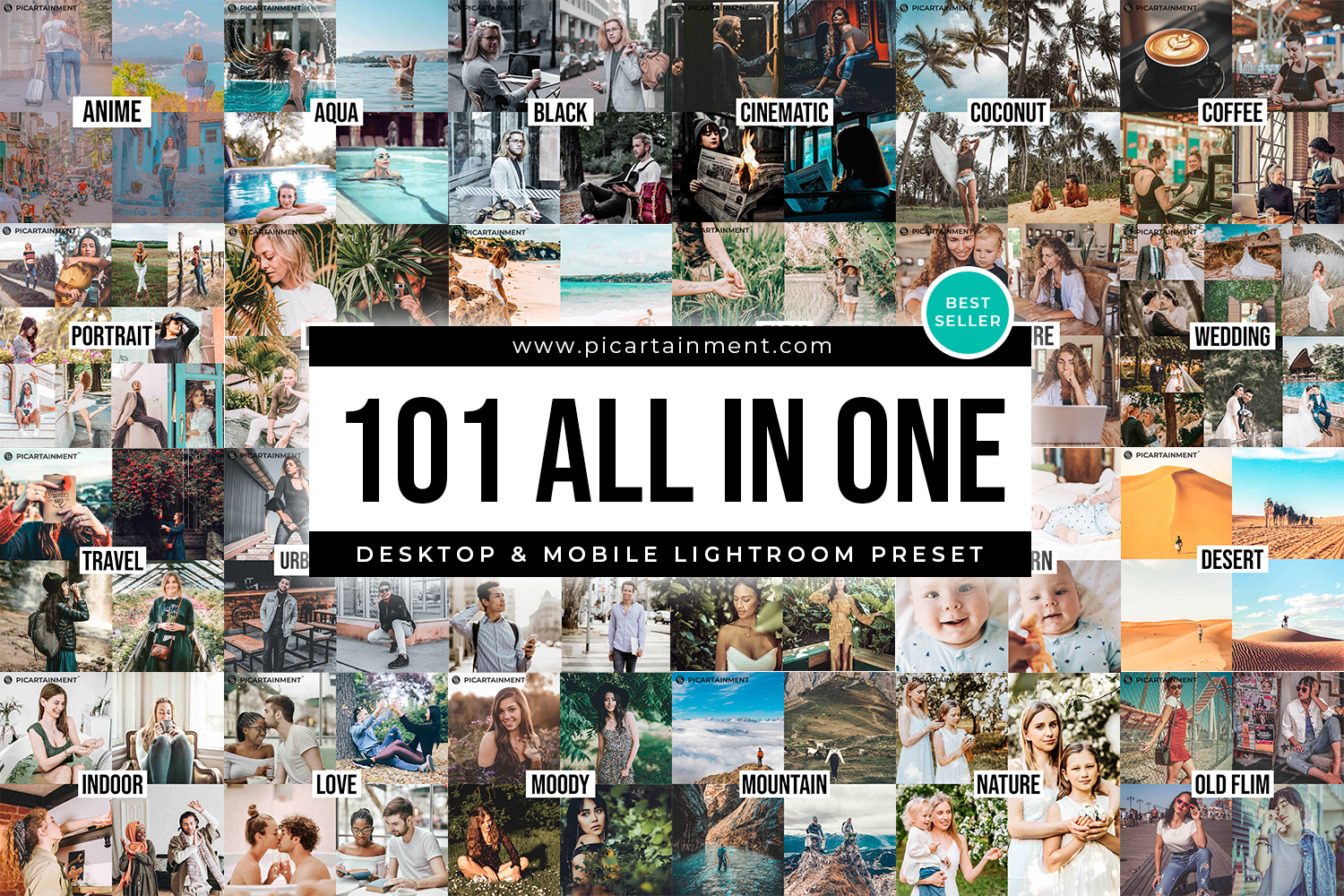 101 All in One Lightroom Presets - All in Onw thumbnail -