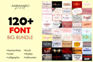 "<span style=""display: none"">Font Bundles</span> - COVER 120 ALL FONTS BUNDLE -"