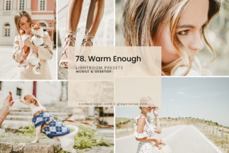 Clean White Lightroom Presets - 78.WARM ENOUGH 1 -